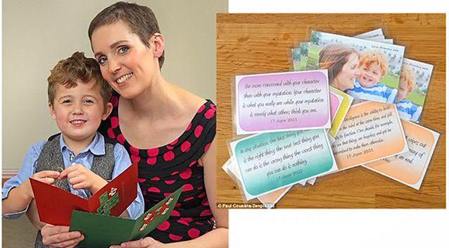Rowena's created birthday cards for her son, and also a card for when he gets married. Photo: Supplied