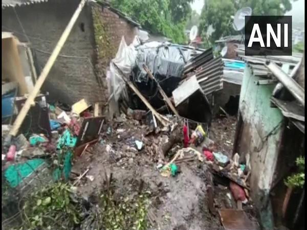 A visual of the collapsed wall in Chembur (Photo/ANI)