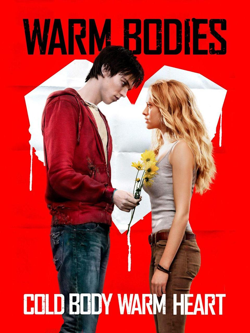 """<p>If you're looking for a Halloween rom-com, look no further than <em>Warm Bodies</em>. It's about a zombie who falls in love with a living girl and it's adorable!</p><p><a class=""""link rapid-noclick-resp"""" href=""""https://www.amazon.com/Warm-Bodies-Nicholas-Hoult/dp/B00CL50KDY/?tag=syn-yahoo-20&ascsubtag=%5Bartid%7C10065.g.29354714%5Bsrc%7Cyahoo-us"""" rel=""""nofollow noopener"""" target=""""_blank"""" data-ylk=""""slk:Watch Now"""">Watch Now</a></p>"""