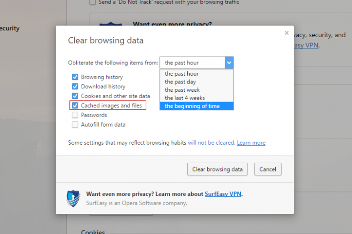 Want to clear your browser's history - 184.6KB