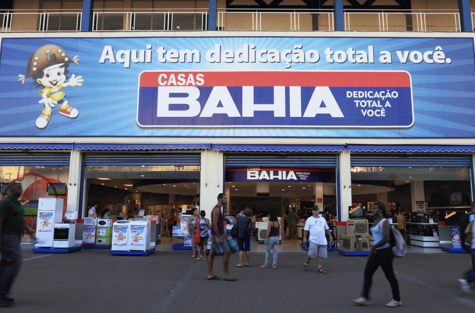 Rio de Janeiro, Brazil - April 18, 2011: One of Rio de Janeiro shops of Casas Bahia, specialized in TVs, refrigerators, stoves etc. Casas Bahia has more than 500 shops in Brazil and is among the 250 biggest retail companies in the world.