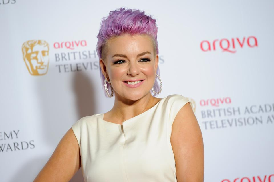 Sheridan Smith poses for photographers in the winners room at the British Academy Television Awards at a central London venue, Sunday, May 18, 2014. (Photo by Jonathan Short/Invision/AP)
