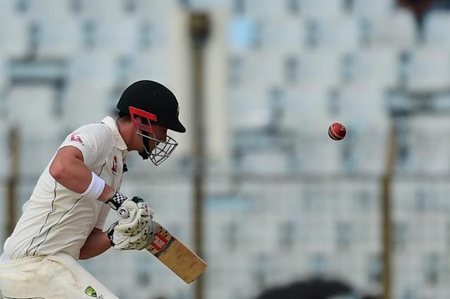 County set: Australia's Matt Renshaw hit a century for Somerset on Friday (AFP Photo/Munir UZ ZAMAN)