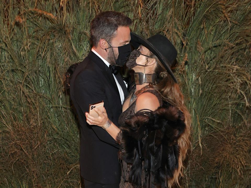 Ben Affleck and Jennifer Lopez attends the The 2021 Met Gala.