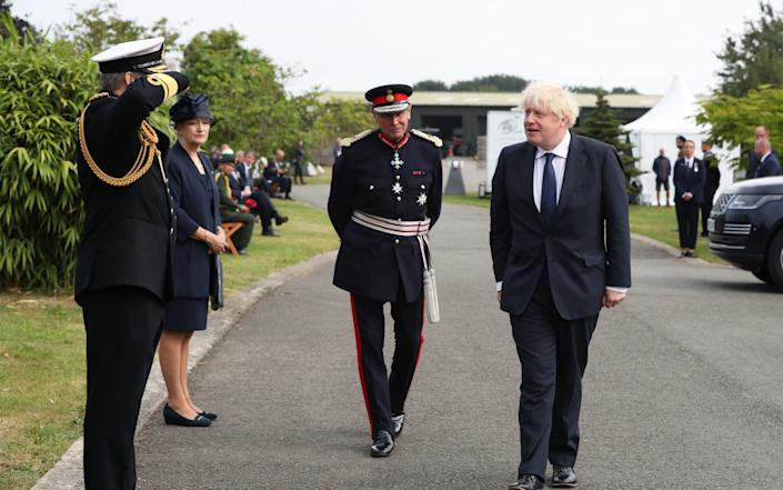 Boris Johnson arrives to attend the national service of remembrance - Peter Byrne/PA