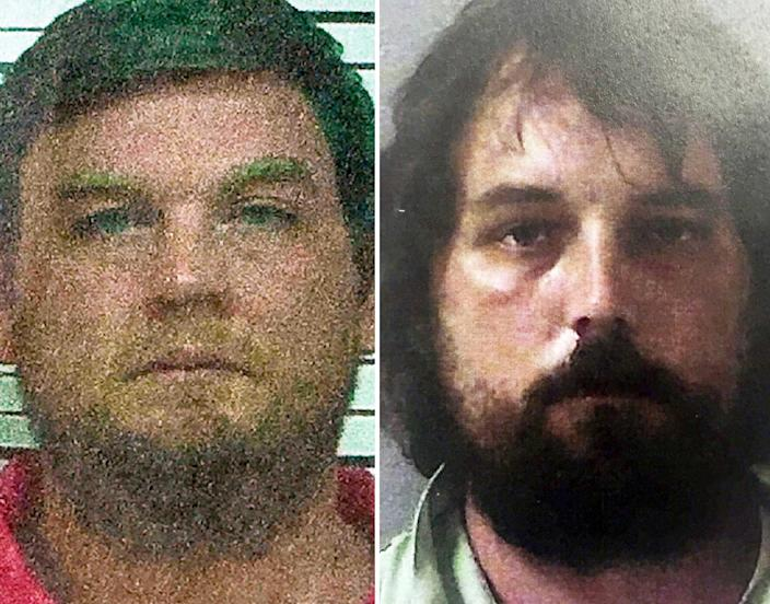 Bo Dukes, left, was convicted on charges relating to covering up the crime and sentenced to 25 years in prison. Ryan Duke, right, was arrested in 2017 and is awaiting trial. He has pleaded not guilty and his defense team has made public statements that Bo Dukes killed Grinstead, not Ryan Duke. / Credit: AP/Georgia Bureau of Information