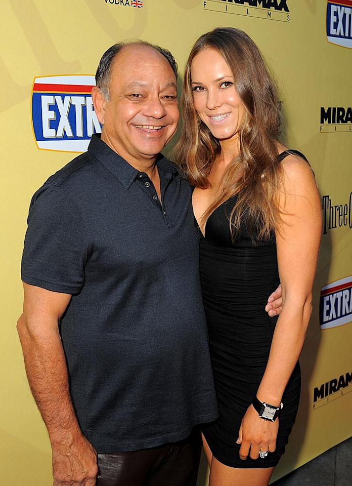 """<a href=""""http://movies.yahoo.com/movie/contributor/1800023911"""">Cheech Marin</a> and wife Natasha Rubin arrive at the Los Angeles premiere of <a href=""""http://movies.yahoo.com/movie/1810039594/info"""">Extract</a> - 08/24/2009"""
