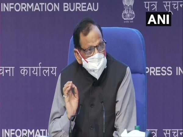 Dr VK Paul, Member-Health, Niti Aayog in a Health Ministry press conference. (Photo/ANI)