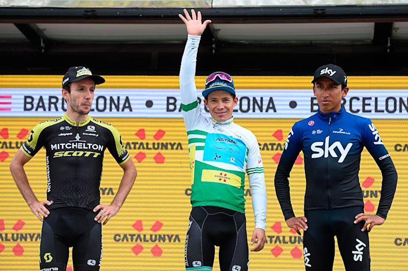 Miguel Angel Lopez beat Adam Yates and Egan Bernal to win the 2020 Volta a Catalunya.