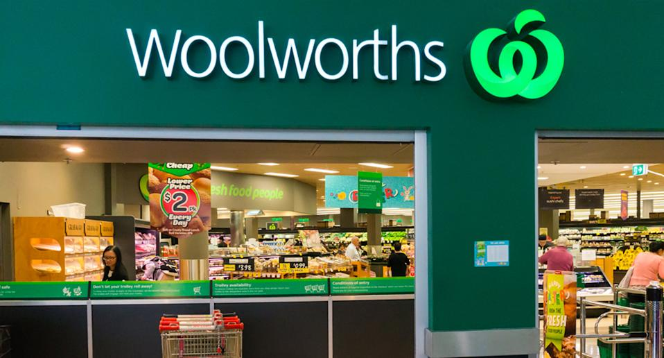 Woolworths store shown.