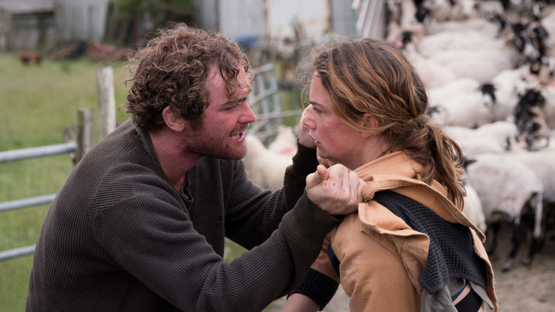 Mark Stanley and Ruth Wilson in 'Dark River'. (Credit: Arrow Films)