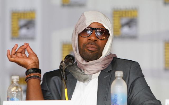 "Nelsan Ellis speaks at HBO's ""True Blood"" Panel at San Diego Convention Center on July 20, 2013 in San Diego, California."