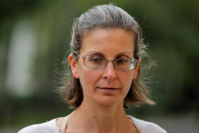 Clare Bronfman, an heiress of the Seagram's liquor empire, following her arraignment on charges of racketeering and conspiracy in relation to the Albany-based organization Nxivm at the United States Federal Courthouse in Brooklyn at New York, U.S., June 24, 2018. REUTERS/Brendan McDermid