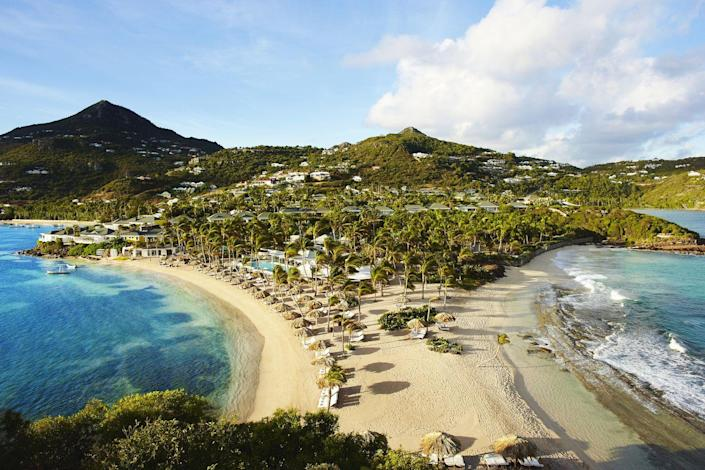 """<p>After extensive renovations following Hurricanes Maria and Irma, <a href=""""https://www.rosewoodhotels.com/en/le-guanahani"""" rel=""""nofollow noopener"""" target=""""_blank"""" data-ylk=""""slk:Rosewood Le Guanahani St. Barth"""" class=""""link rapid-noclick-resp"""">Rosewood Le Guanahani St. Barth</a> will debut as one of the area's most exciting and exclusive new properties. Seated on 18 lush, private acres, this resort will offer 66 rooms and suites—many with private pools—that reflect the French Caribbean's rich culture, heritage, and style. Rosewood Le Guanahani St. Barth will be the only full-service resort on the island, offering all the amenities you can dream of, along with a variety of excursions for land and sea. </p><p><em>Rosewood Le Guanahni St. Barth is expected to open in October 2021. Nightly rates will start at $1,238.</em></p>"""