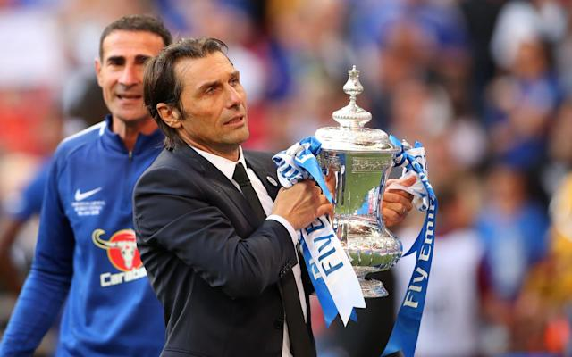 """Antonio Conte has warned Chelsea they must overhaul their squad if they are to improve on this season - whether or not he is sacked as head coach. Captain Gary Cahill led the calls for clarity over Conte's position last night, with the Italian now waiting to find out whether he will lose his job despite securing some consolation for missing out on the Champions League by beating Manchester United in the FA Cup final thanks to Eden Hazard's penalty. Conte, who has won the Premier League and FA Cup during his two seasons in charge, is adamant he will not quit but his stormy relationship with the Chelsea board over their transfer strategy has meant his position has been in doubt since the start of his second season. And as the Chelsea board deliberate over his future the Italian has told the club that an overhaul of the playing staff is required no matter who is in charge. Asked if he could have tried harder to enjoy a more stable relationship with his Chelsea superiors, Conte answered: """"It's not simple, it's not simple to answer this question. """"For sure, when you decide to take a coach like me, you must know who you are taking, who you are charging for this job. I repeat, as I said before, I cannot change my personality, I cannot change my idea of football. I can find the right way to win this trophy, for sure. FA Cup final reaction and analysis 