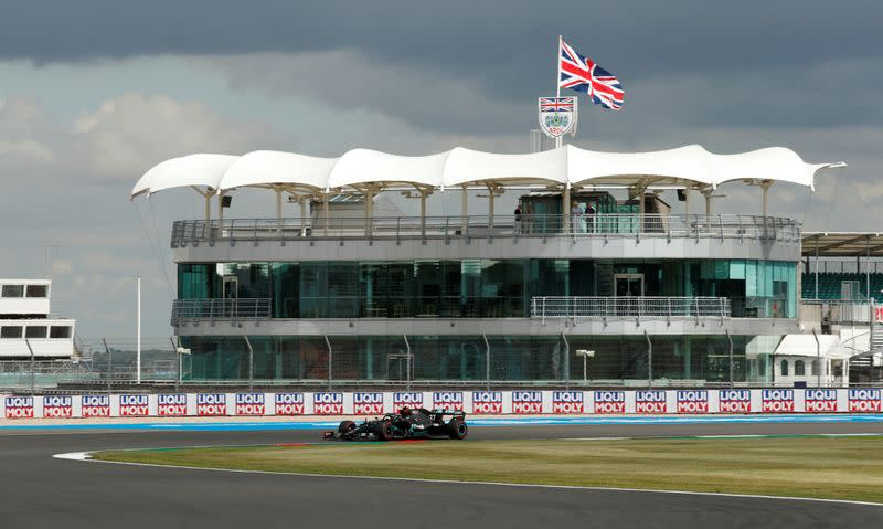 Absence of fans and eerie silence hang over weird British GP