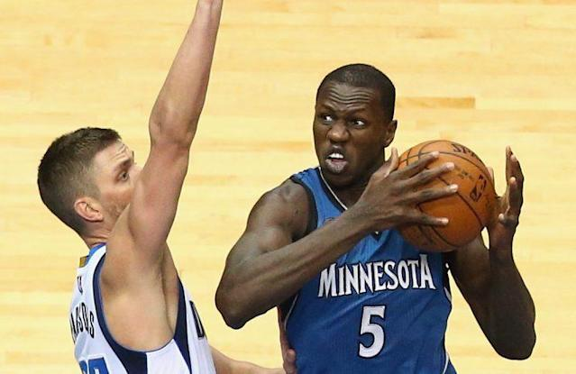 Gorgui Dieng is emerging as a solid two-way player. (Getty Images)