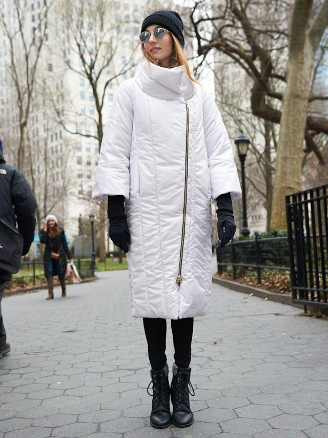"<p>Vaute offers a range of not only wool-alternative dress coats but also down-free jackets and parkas, such as this long and cozy stunner in Shiny Cloud, featuring a high collar, assymetrical zipper, and Primaloft insulation. (<a href=""https://vautecouture.com/collections/snow-coats/products/the-snow-monster-parka-in-stormcloud"" rel=""nofollow noopener"" target=""_blank"" data-ylk=""slk:$647, Vaute"" class=""link rapid-noclick-resp"">$647, Vaute</a>) </p>"
