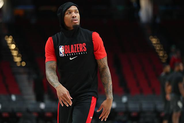 Blazers star Damian Lillard wants a chance to compete for a playoff spot. (Photo by Abbie Parr/Getty Images)