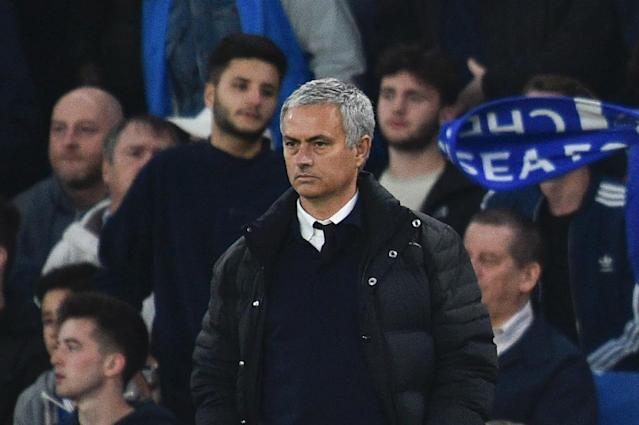 Jose Mourinho has lost on all three previous visits to Stamford Bridge as Manchester United manager (AFP Photo/GLYN KIRK )