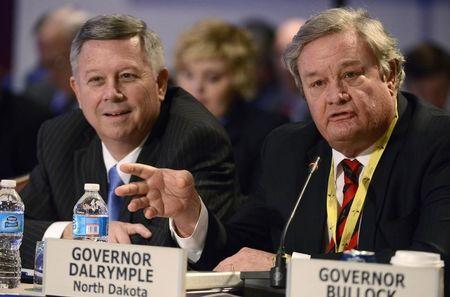 North Dakota Gov Dalrymple attends National Governors Assoc discussion on Growth and Jobs in America during its Winter Meetings in Washington