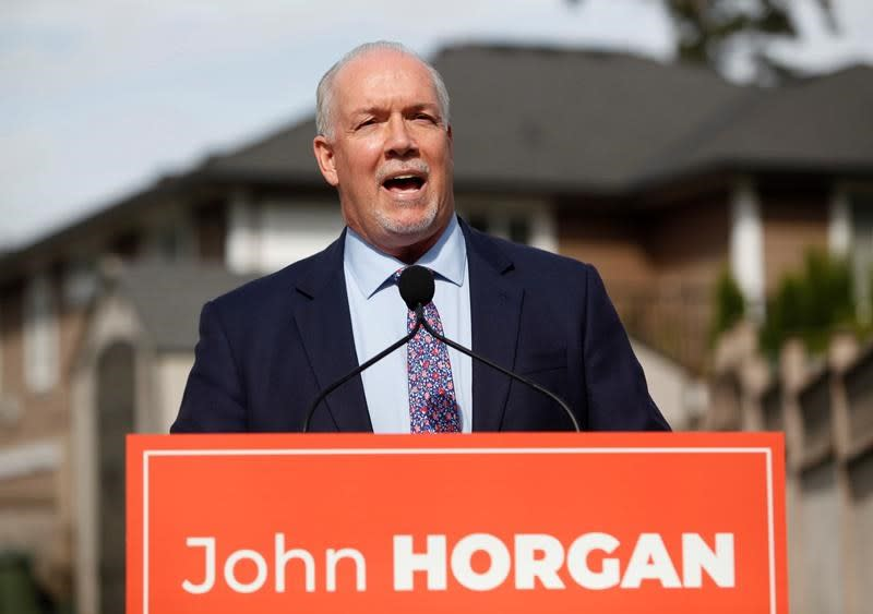 A profile sketch of John Horgan, leader of the NDP in British Columbia