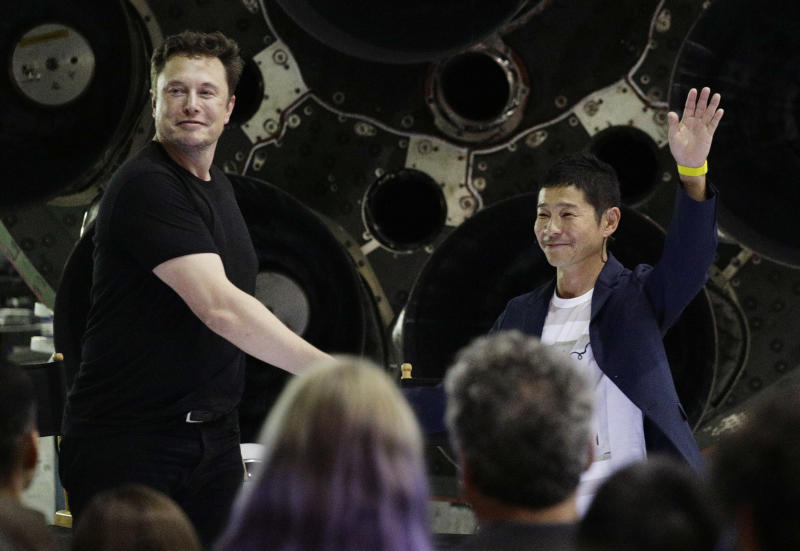 SpaceX's 1st traveler is moonstruck Japanese fashion tycoon