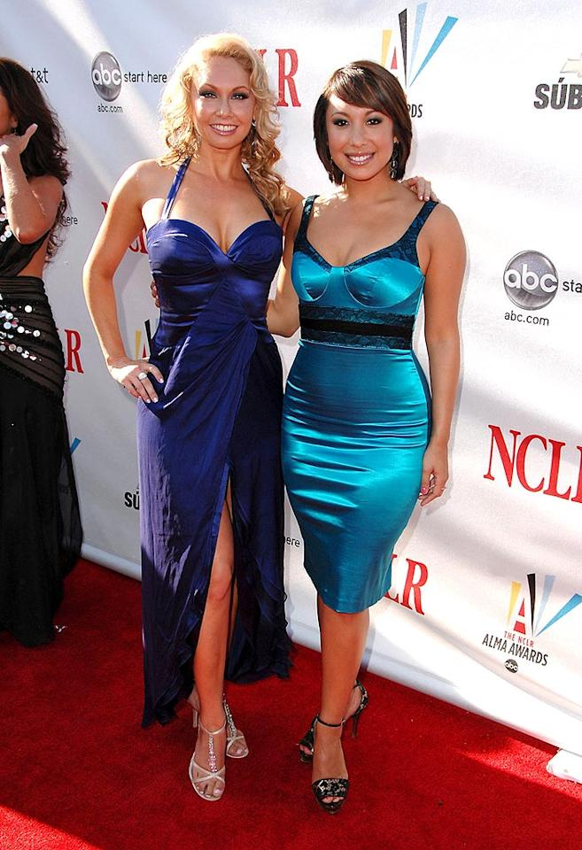 "Apparently, Kym Johnson and Cheryl Burke of ""Dancing With the Stars"" are now celebrities. Cheryl may look Latin, but she's actually of Filipino, Irish, and Russian descent. Steve Granitz/<a href=""http://www.wireimage.com"" target=""new"">WireImage.com</a> - August 17, 2008"