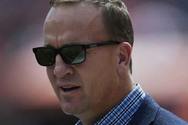 Why doesn't Peyton Manning have more famous nicknames? (Photo by Andy Cross/The Denver Post via Getty Images)