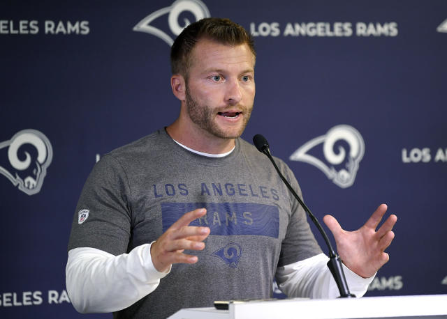 One-hit wonder or here for the long haul? Rams coach Sean McVay led the team to a quick turnaround in 2017. (AP)