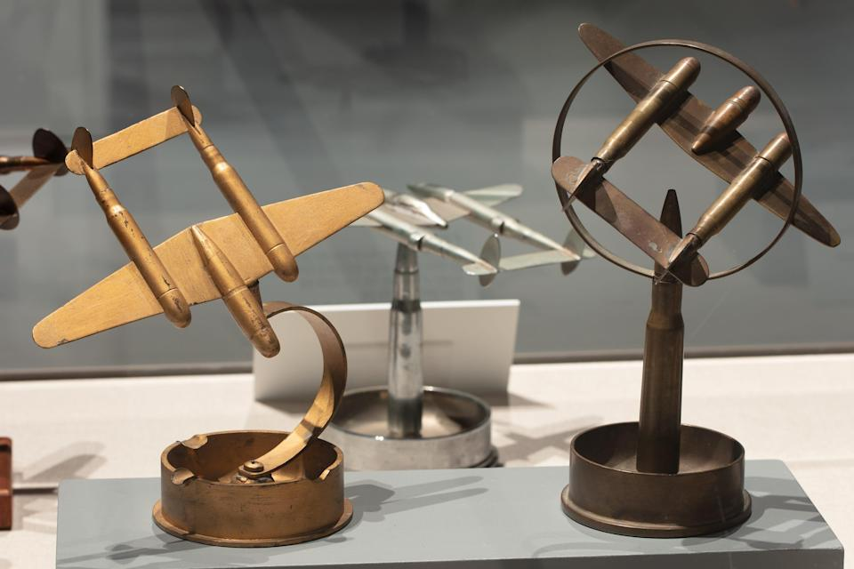 SOLDIER/ARTIST: Trench Art in World War II at the National WWII Museum in New Orleans includes art, souvenirs and tools made out of the discarded materials and waste of war.
