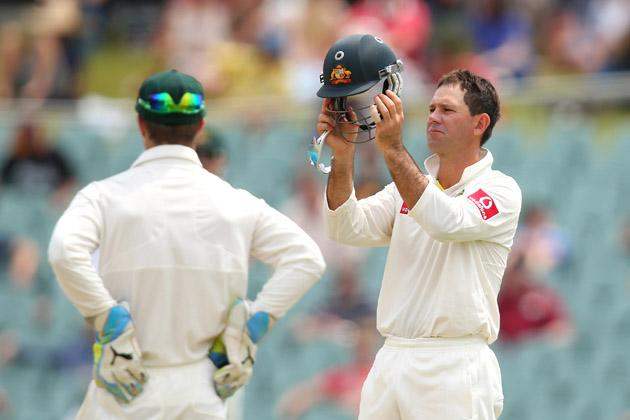 Ricky Ponting of Australia prepares to field during day five of the Second Test Match between Australia and South Africa at Adelaide Oval on November 26, 2012 in Adelaide, Australia.  (Photo by Cameron Spencer/Getty Images)