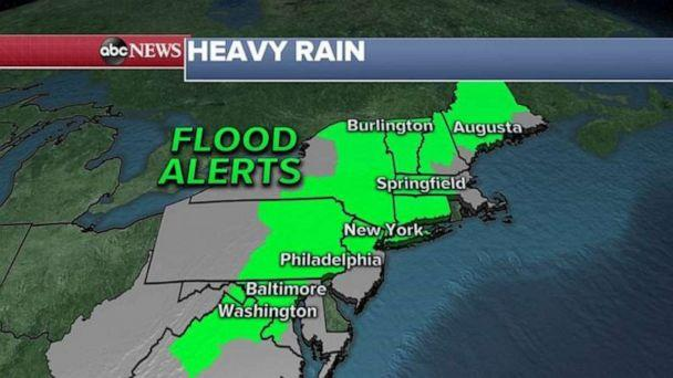 PHOTO: Flooding alerts have been issued in the Northeast. (ABC News)