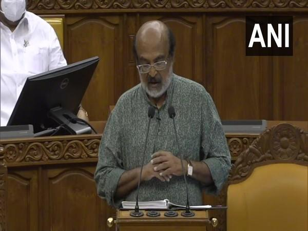 Kerala Finance Minister Thomas Isaac during his budget speech in the Assembly. (Photo/ANI)