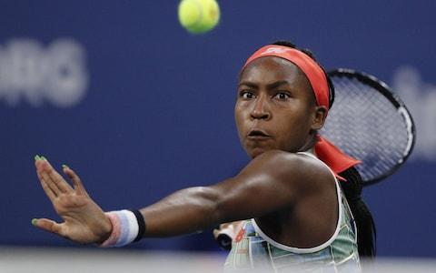 Coco Gauff almost singlehandedly sold the stadium out in Linz - Credit: Rex