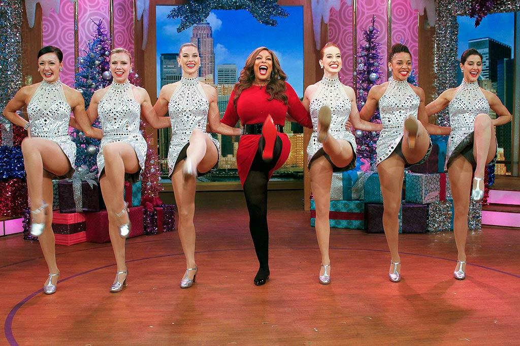If Wendy Williams' talk show ever gets canceled, she might have a future as one of the Rockettes! The 47-year-old was kicking pretty high when the fabled dancers stopped by her show on Thursday. (12/8/2011)