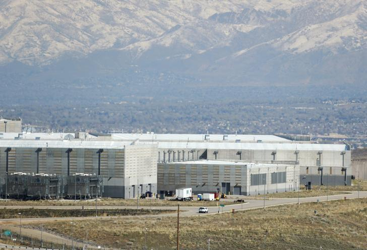 A security car patrols the National Security Agency (NSA) data center in Bluffdale, Utah