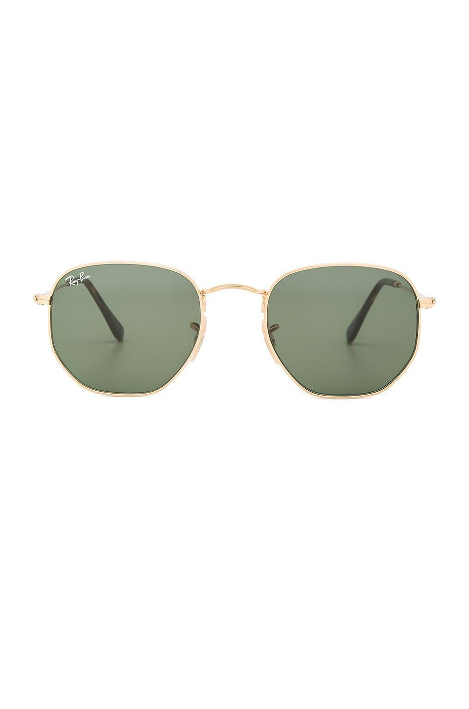 <p>They'll look so cool in these <span>Ray-Ban Hexagonal Flat</span> ($154) sunglasses.</p>
