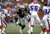 <p>After just four years with the Raiders, Allen was already a Super Bowl MVP and a perennial superstar running back. Yet when Bo Jackson came along in 1986, Allen had to take on a reduced role, which caused tension between he and owner Al Davis. After accusing Davis of deliberately trying to devalue him, Allen left the Raiders and signed with the Chiefs. </p>