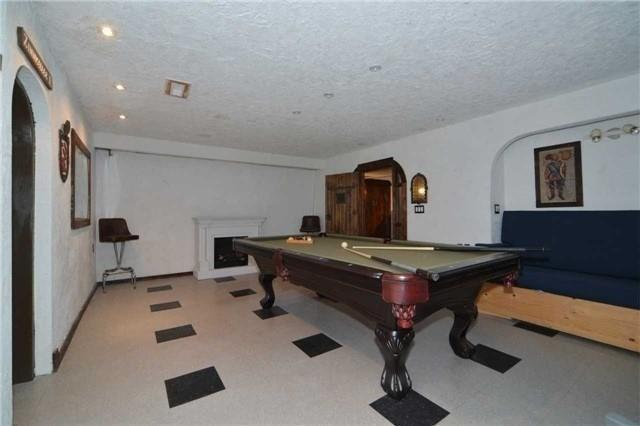 <p><span>814 Meadowvale Rd., Toronto, Ont.</span><br> In the basement, you'll find a 'European pub' atmosphere. The pool table comes with the house.<br> (Photo: Zoocasa) </p>