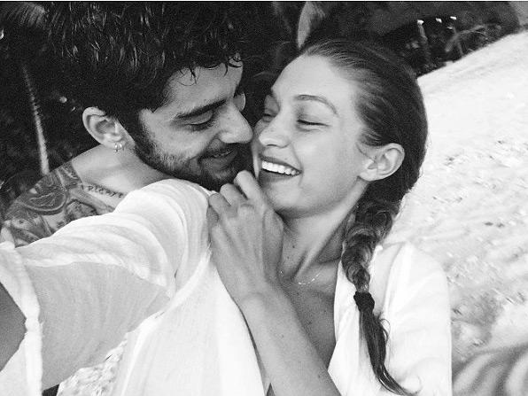 Zayn Malik (left) and Gigi Hadid