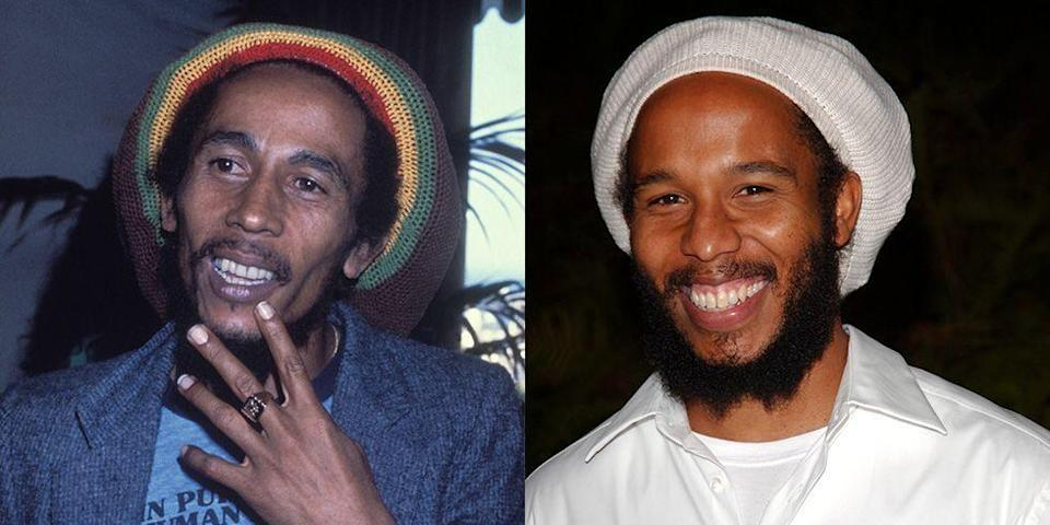 <p>Sadly, at the age of 36, Jamaican musician and cultural icon Bob Marley passed away. At the same age as his late father, Ziggy Marley looks almost identical and is carrying on his dad's legacy as a musician. </p>
