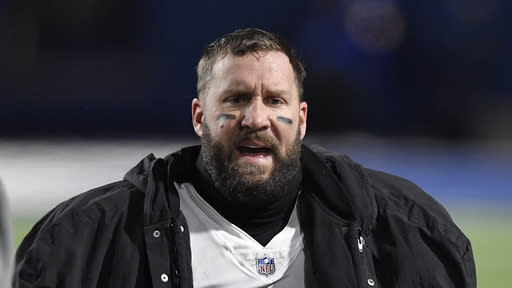 Pittsburgh Steelers quarterback Ben Roethlisberger stands on the sideline during the second half of an NFL football game against the Buffalo Bills in Orchard Park, N.Y., Sunday, Dec. 13, 2020. (AP Photo/Adrian Kraus)