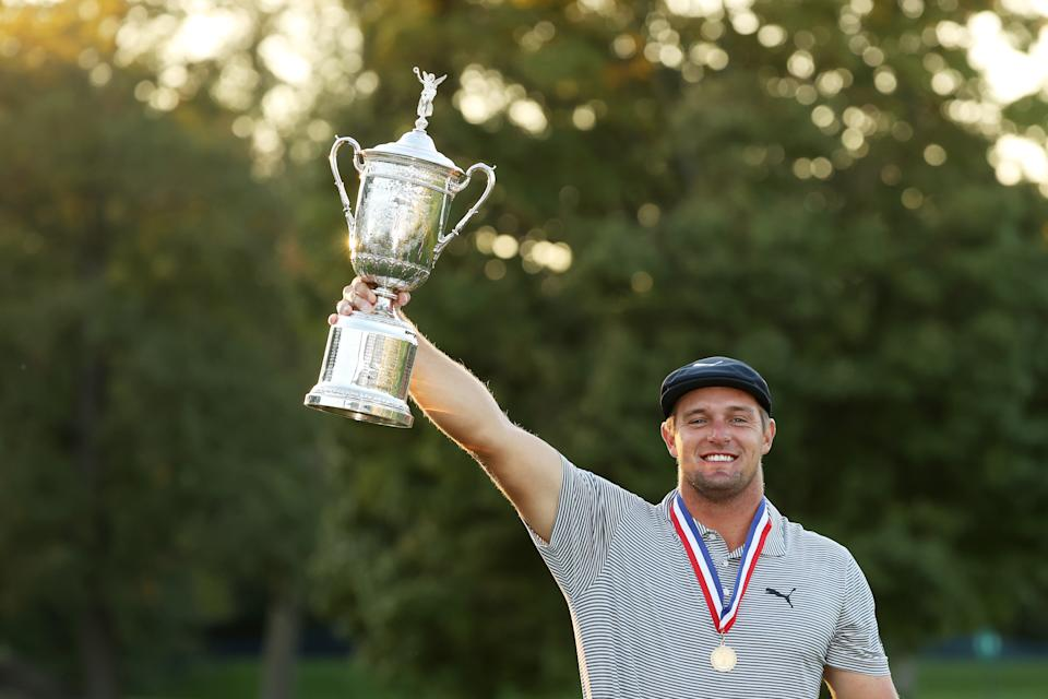 Can Bryson DeChambeau defend his U.S. Open title?. (Gregory Shamus/Getty Images)