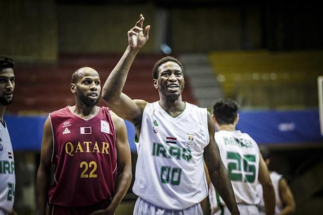 DeMario Mayfield's success with the Iraqi national team helped him earn a contract offer from a European club for the 2018-19 season. (photo credit: FIBA)