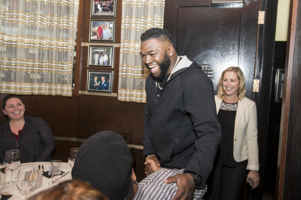 David Ortiz is going to try out a bunch of professions on his brand new TV show. (AP Images for Mastercard)