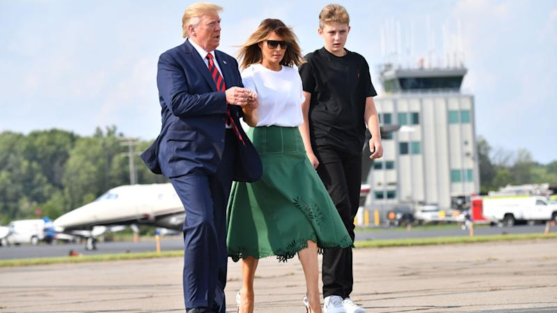Donald Trump, First Lady Melania Trump and son Baron have received gifts from Scott Morrison.