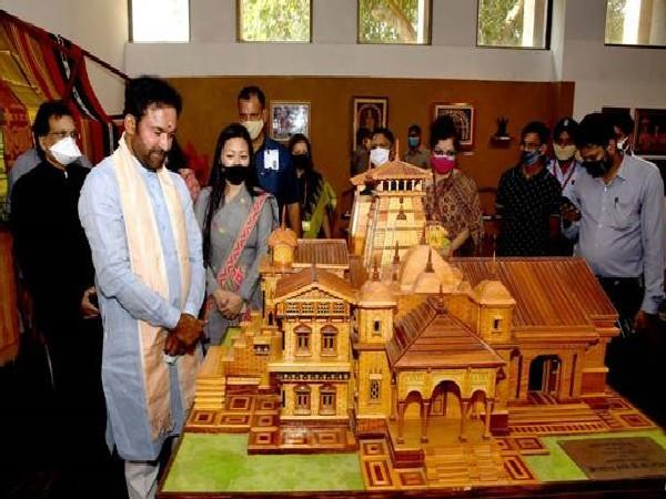 Minister of Culture G Kishan Reddy at the National Gallery of Modern Art, New Delhi (Photo/ANI)