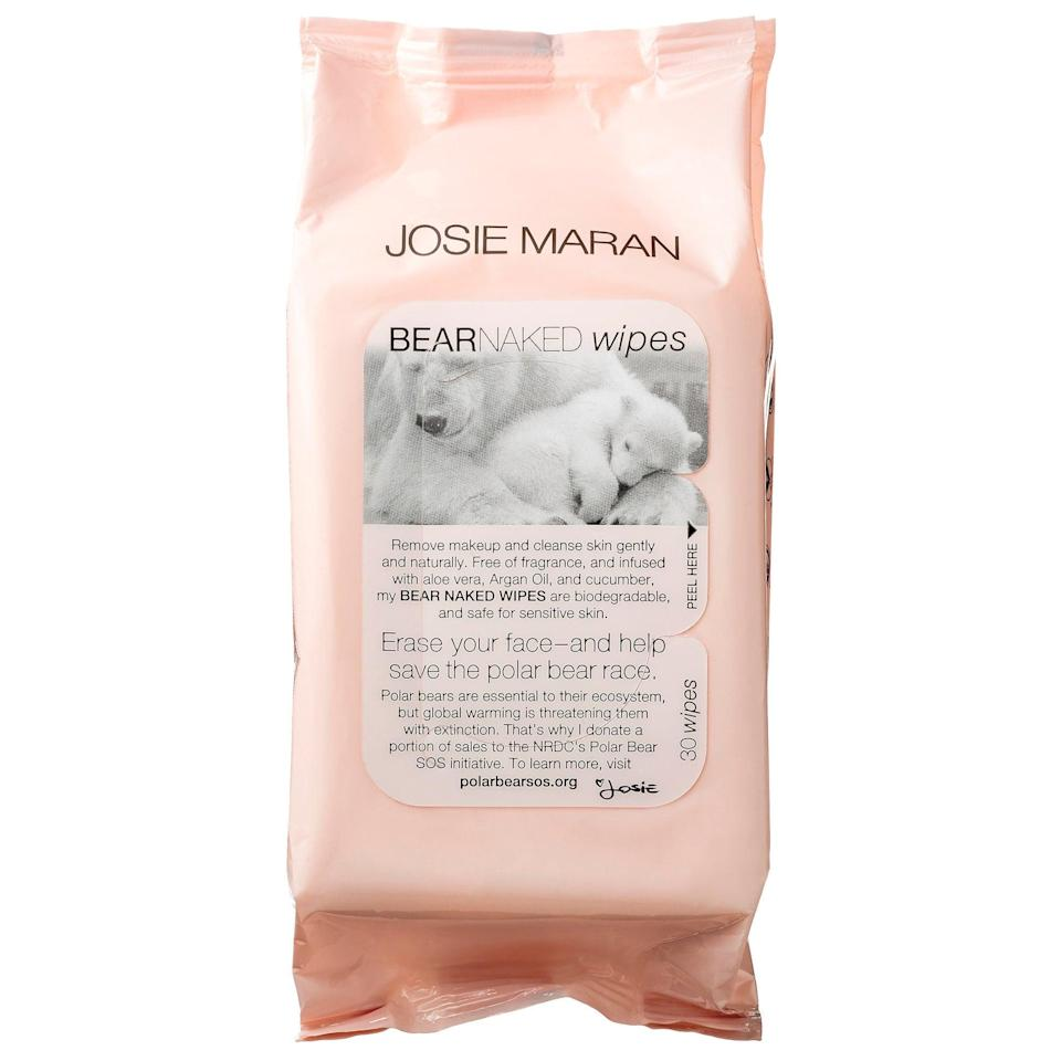 <p>These wipes boast a gentle makeup remover and cleanser in one, and a portion of the sales of these <span>Josie Maran Bear Naked Wipes</span> ($12) go to the NRDC's Polar Bear SOS initiative. What's not to love about that?</p>
