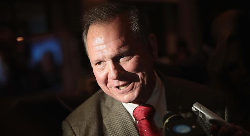 Roy Moore is running for Senate and has faced questions about his pay from his foundation.